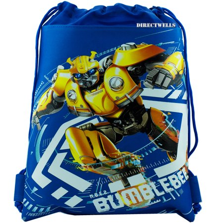 Transformers Bumblebee Blue Drawstring Bag