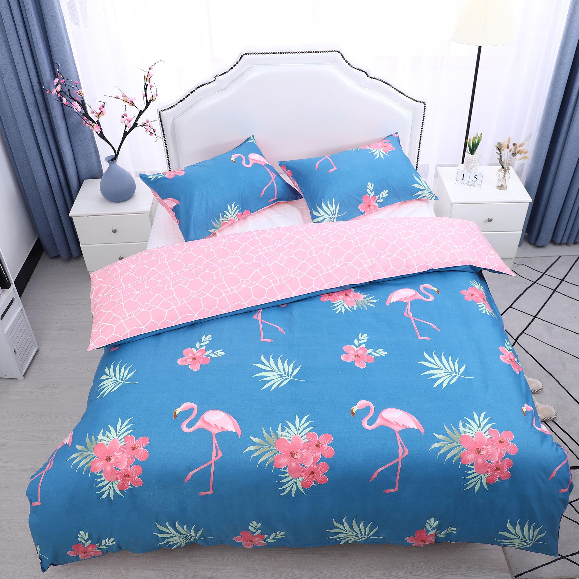 3pcs Duvet Cover Sets(1 Duvet Cover + 2 Pillow Shams) Full, Petunia Pattern