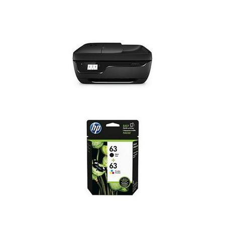 HP OfficeJet 3830 Printer W/ HP 63 Black and Tri Color Original Ink  Cartridge OfficeJet 3830 All-in-One Printer
