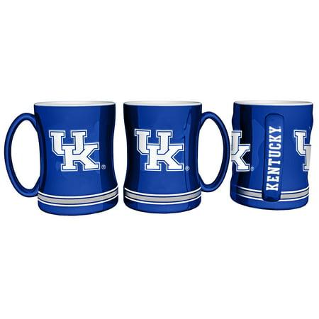 Kentucky Wildcats Coffee Mug 14oz Sculpted Relief (Wildcats Ceramic)