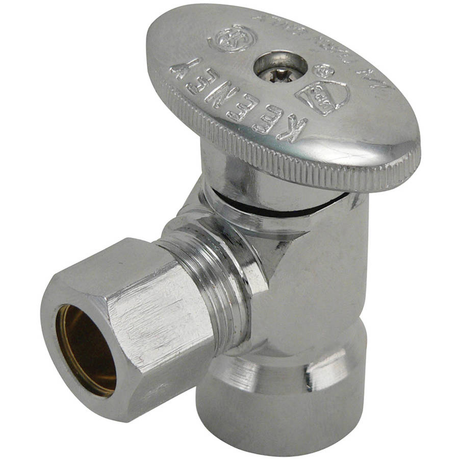 "Keeney 2050PCLF 1/2"" FIP x 7/16"" Angle Quarter Turn Valve"