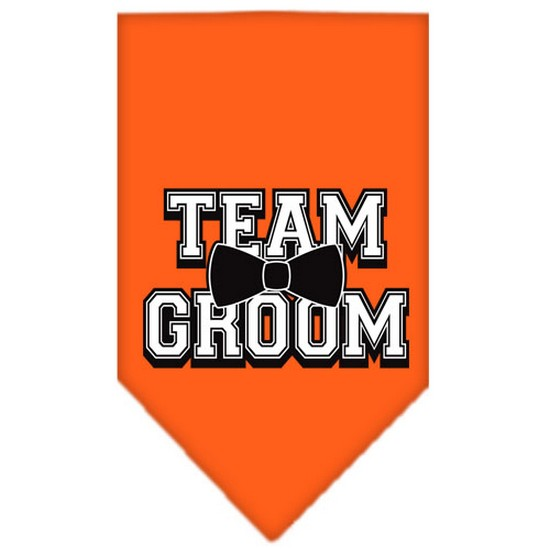 Team Groom Screen Print Bandana Orange Large