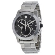 Movado Vizio Black Carbon Fiber Stainless Steel Mens Watch 0606551