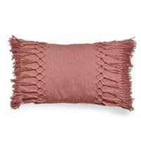 MoDRN 14in. x 24in. Textured Lumbar Outdoor Throw Pillow - Blush Pink