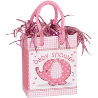 (4 Pack) Elephant Baby Shower Balloon Weight, 3 in, Pink, 1ct