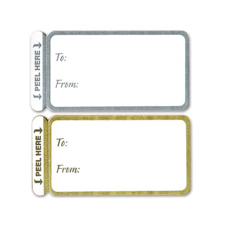 Gold & Silver Peel and Stick Gift Tag Labels -100ct