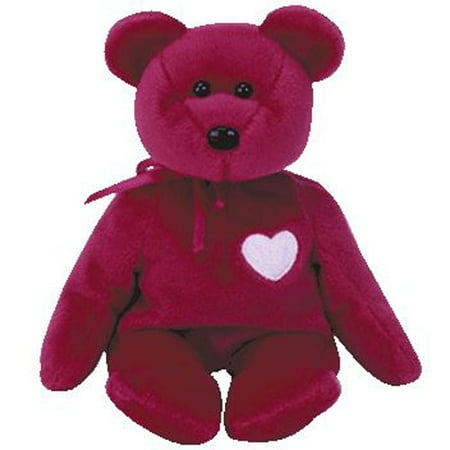TY Beanie Baby - VALENTINA the Red Bear (8.5 inch) Hamster Beanie Baby