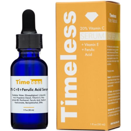 TIMELESS SKIN CARE 20% de vitamine C Sérum + Vitamine E + acide férulique de 30ml