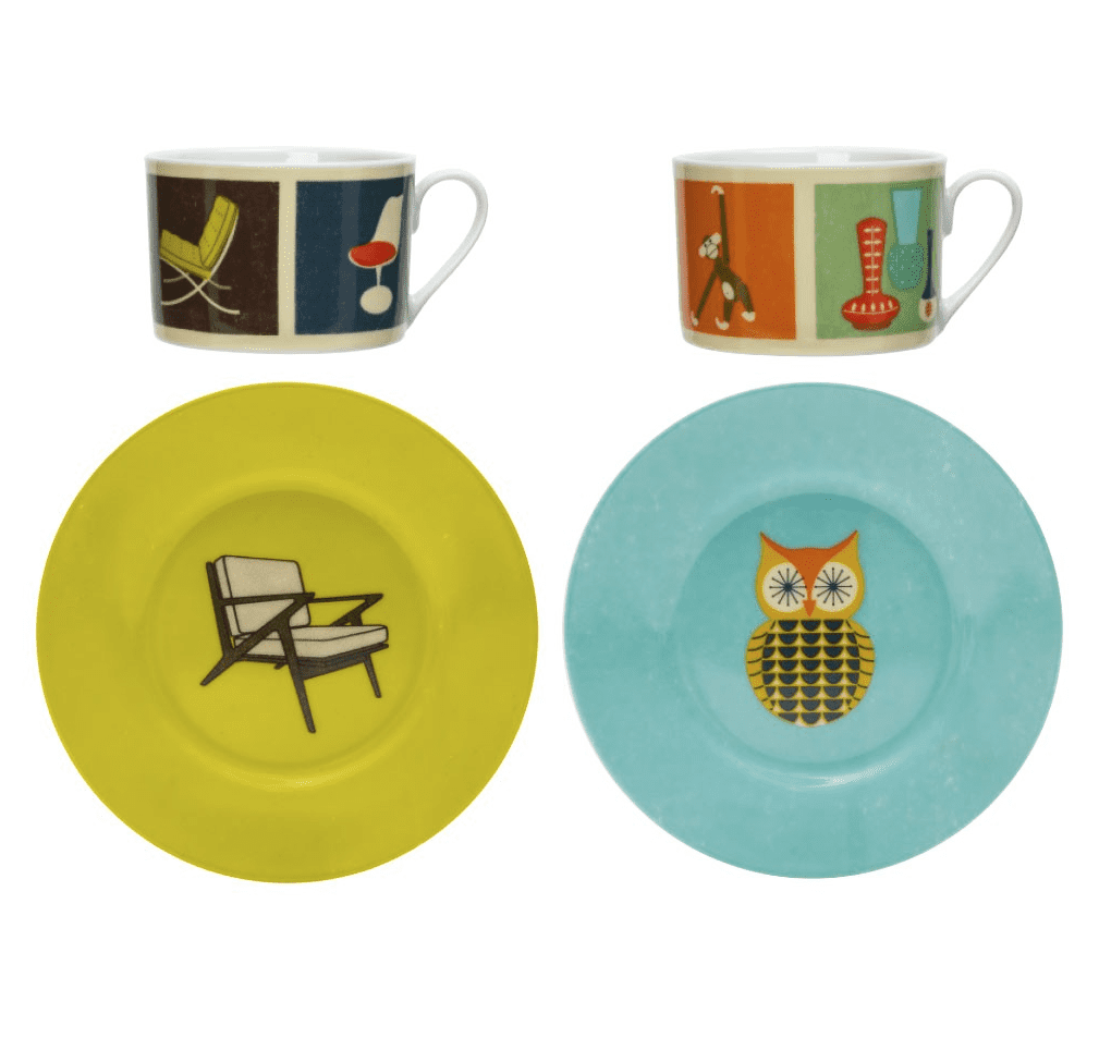 Magpie THE MODERN HOME Collection Cup & Saucer Set of 2 Collectible Chairs by Cubic Products