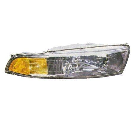 2002-2003 Mitsubishi Galant  Aftermarket Driver Side Front Head Lamp Assembly MR972843-V