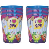 Package of 12 Shopkins Plastic Cups by Plastic Glasses