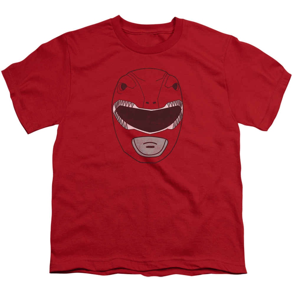Red Ranger Mask S/S Youth 18/1 Red Pwr140