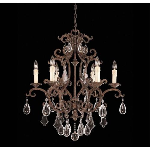 Savoy House Florence 6 Light Chandelier in New Tortoise Shell