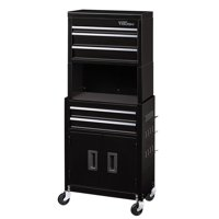 Hyper Tough 20-In 5-Drawer Rolling Tool Chest & Cabinet Combo w/ Riser