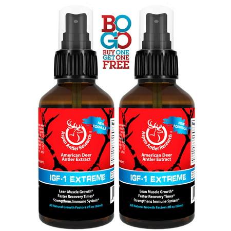 BOGO - Aspen IGF-1 Extreme - Deer Antler Spray! Two Bottle Pack Of Deer Antler Velvet (Deer Antler Pull)