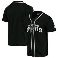 San Antonio Spurs Starter Legacy Baseball Jersey - Black