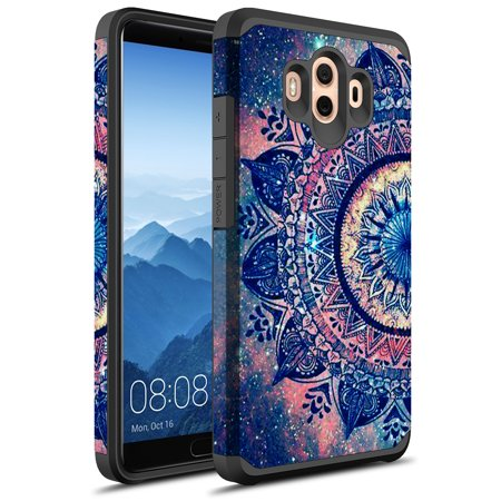 Huawei Mate 10 Pro Case, MATE 10 PRO, KAESAR Slim Hybrid Dual Layer Shockproof Hard Cover Graphic Fashion Cute Colorful Silicone Skin Cover Armor Case for Huawei Mate10 Pro - Pro Dual 10 Band Graphic