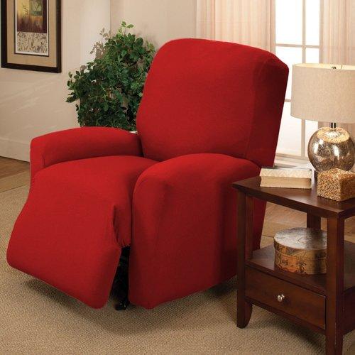 Kashi Home Jersey Box Cushion Recliner Slipcover Walmart Com Walmart Com