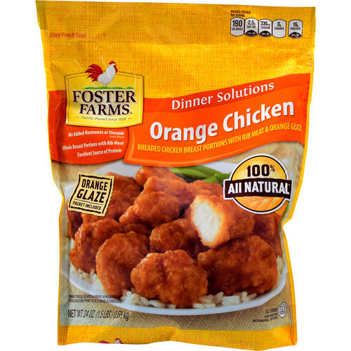 Foster Farms Breaded Breast Portions With Orange Glaze Orange Chicken, 24 oz