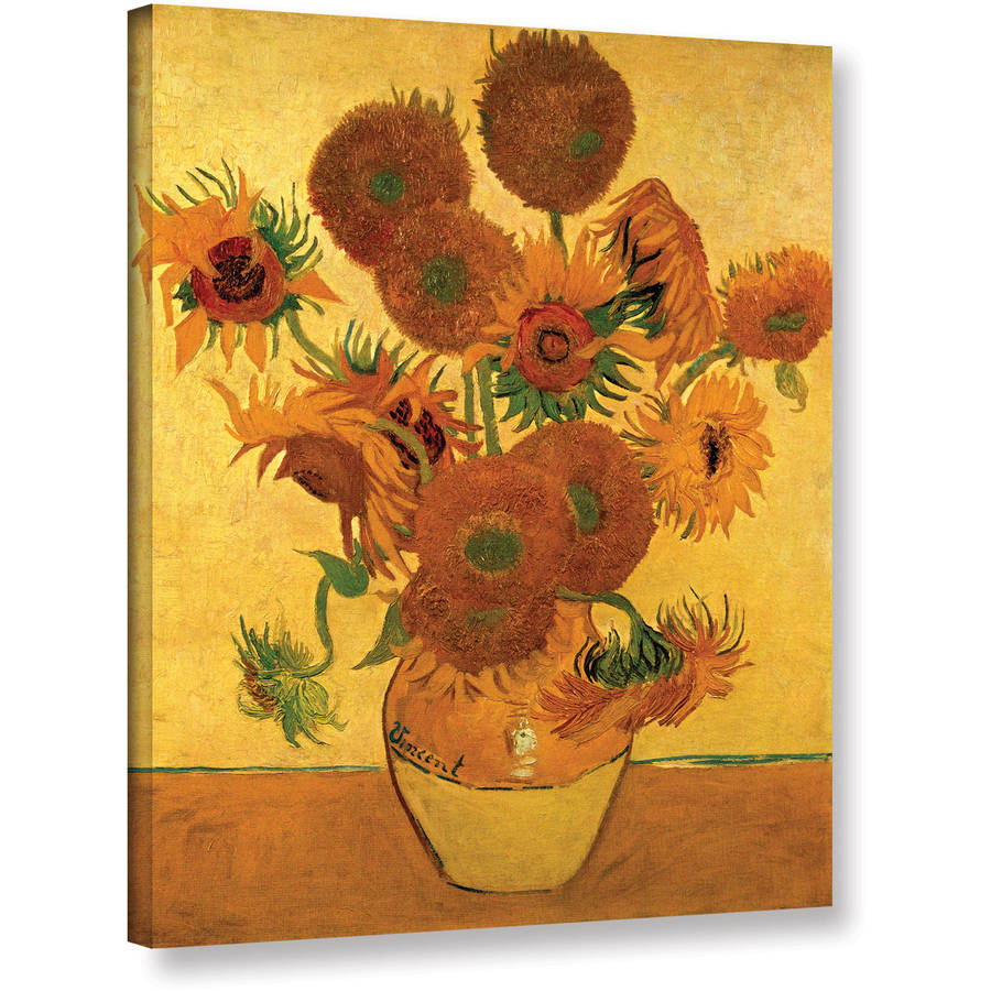 "Vangogh ""Vase With Fifteen Sunflowers"" Wrapped Canvas Art"