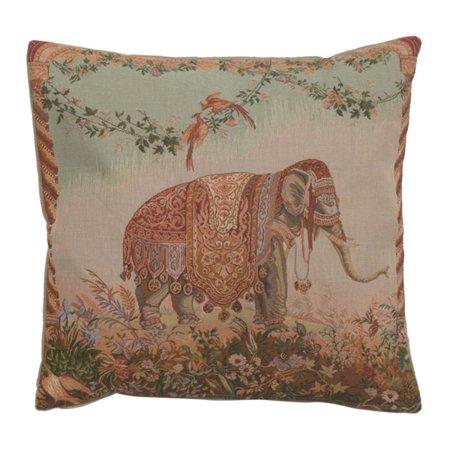 Elephant I French Cushion - A - H 19 x W 19(Cushion) - image 1 de 1