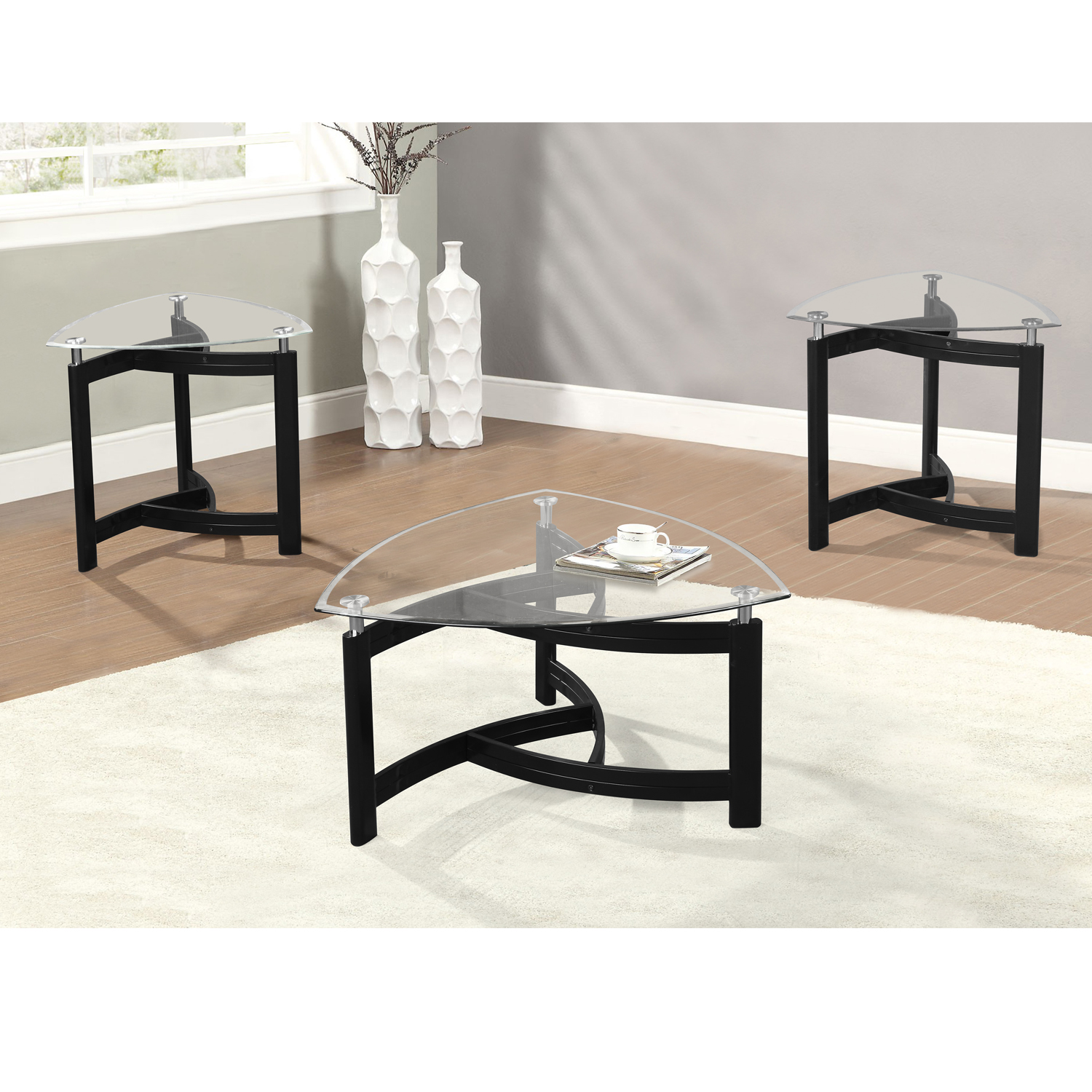 home source middle village 3-piece coffee table set - walmart