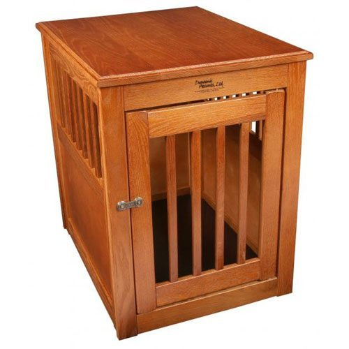 Dynamic Accents End Table Pet Crate - Burnished Oak