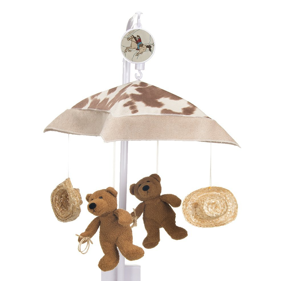 Sweet Potato Happy Trails Musical Mobile, Tan/Cream/Brown