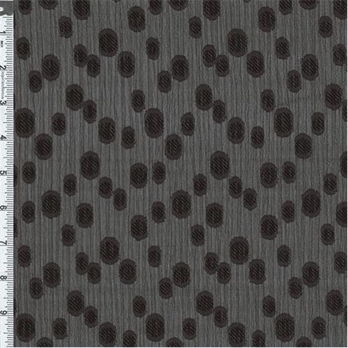 Black Yoryu Dobby Jacquard, Fabric By the Yard