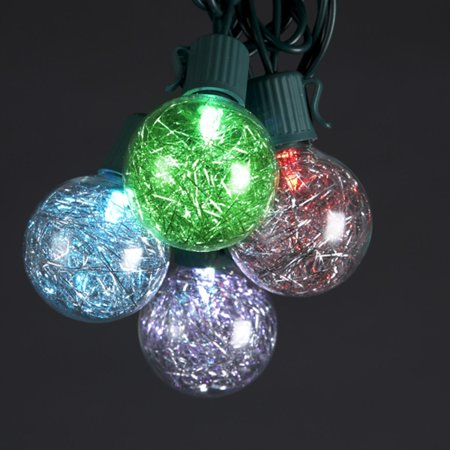 set of 10 color changing multi color led g40 tinsel christmas lights green wire. Black Bedroom Furniture Sets. Home Design Ideas
