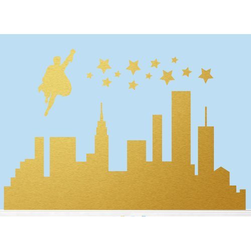 Sweetums Wall Decals Super Hero City Wall Decal
