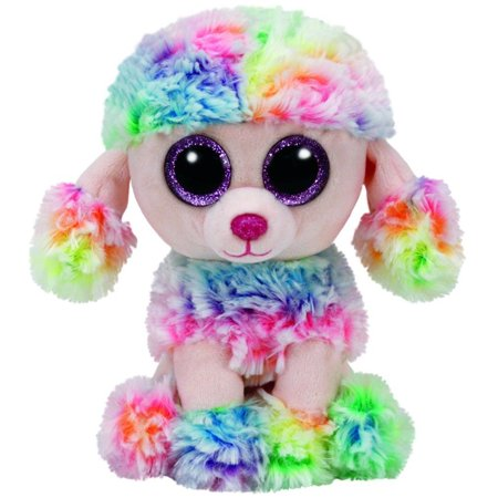 Rainbow Poodle Beanie Boo Small 6 inch - Stuffed Animal by Ty (37223)