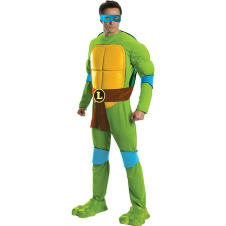 Teenage Mutant Ninja Turtles Deluxe Leonardo Adult Halloween Costume - Mens Turtle Costume