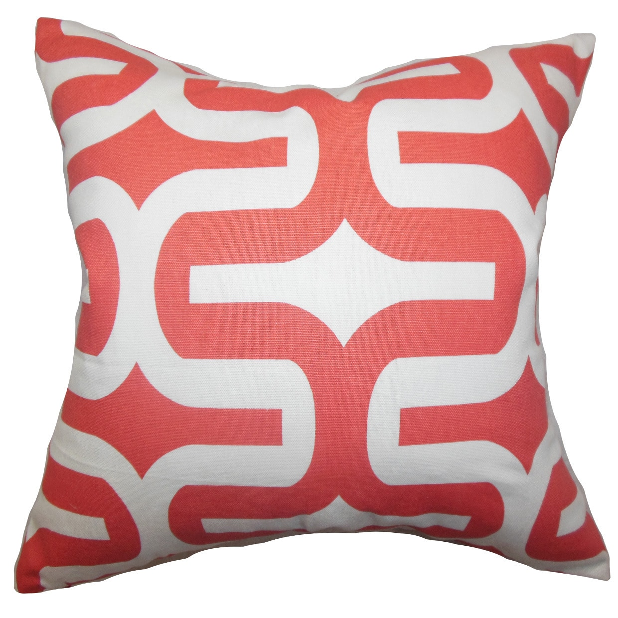 The Pillow Collection Jaslene Geometric Euro Sham Pink