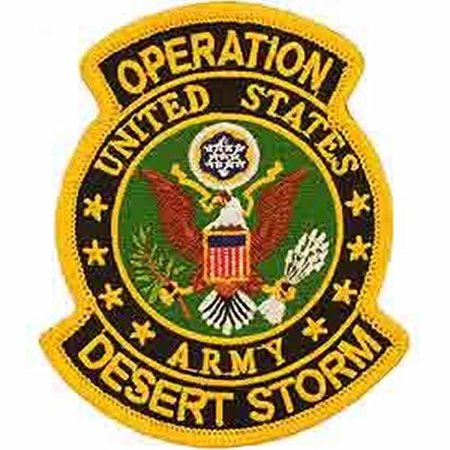 UNITED STATES ARMY OPERATION DESERT STORM PATCH - Bright Colors - Veteran Owned Business. Desert Storm Vet Patch