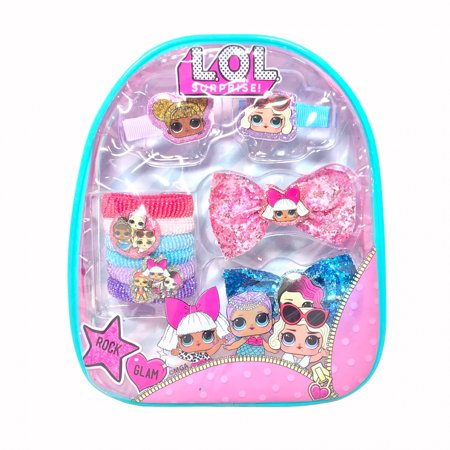 LOL Surprise 10pc Girls Dress Up Hair Accessory Kit with Backpack Carrier for $<!---->