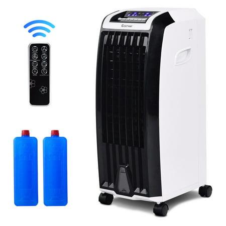 Costway Evaporative Portable Air Conditioner Cooler Fan Anion Humidify W/ Remote (Micro Control Unit)