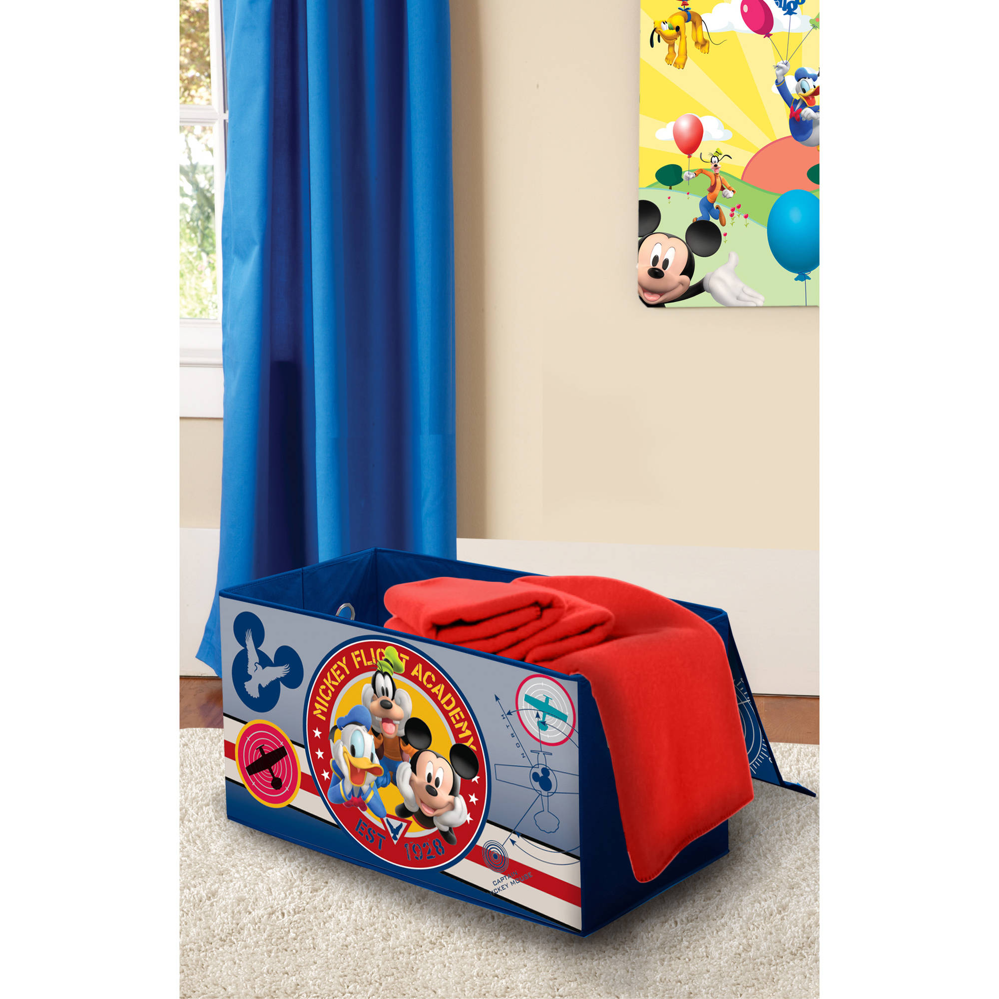 Mickey Mouse Bedroom Furniture Disney Mickey Mouse Room In A Box With Bonus Toy Bin Walmartcom