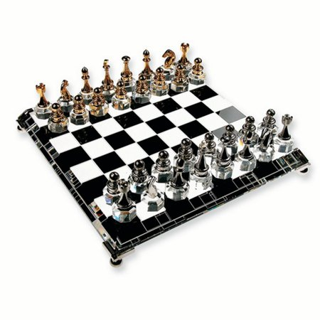 Silver Plated Gold Crystal Chess Set Game Backgammon Ches Fashion Jewelry Ideal Gifts For Women Gift Set From Heart - Walmart.com