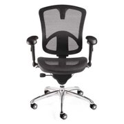 Bevco Task Chair, Upholstered, 300 lb. Weight Limit, Black, M6088MM