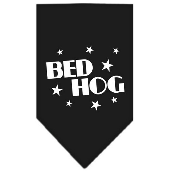 Bed Hog Screen Print Bandana Grey Small