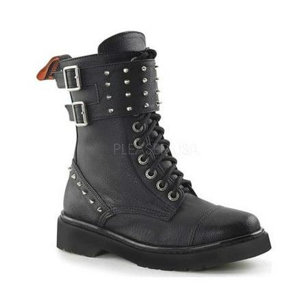 Women's Demonia Rival 309 Boot Black Vegan Leather 7 M