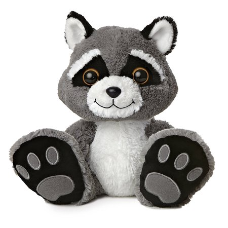 World Taddle Toes Racer Raccoon Plush Measures 10 Tall By Aurora