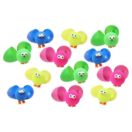 Puffer Chicks in Matching Colored Eggs - Puffer Ball - Sensory Fidget Toy](Egg Ball)