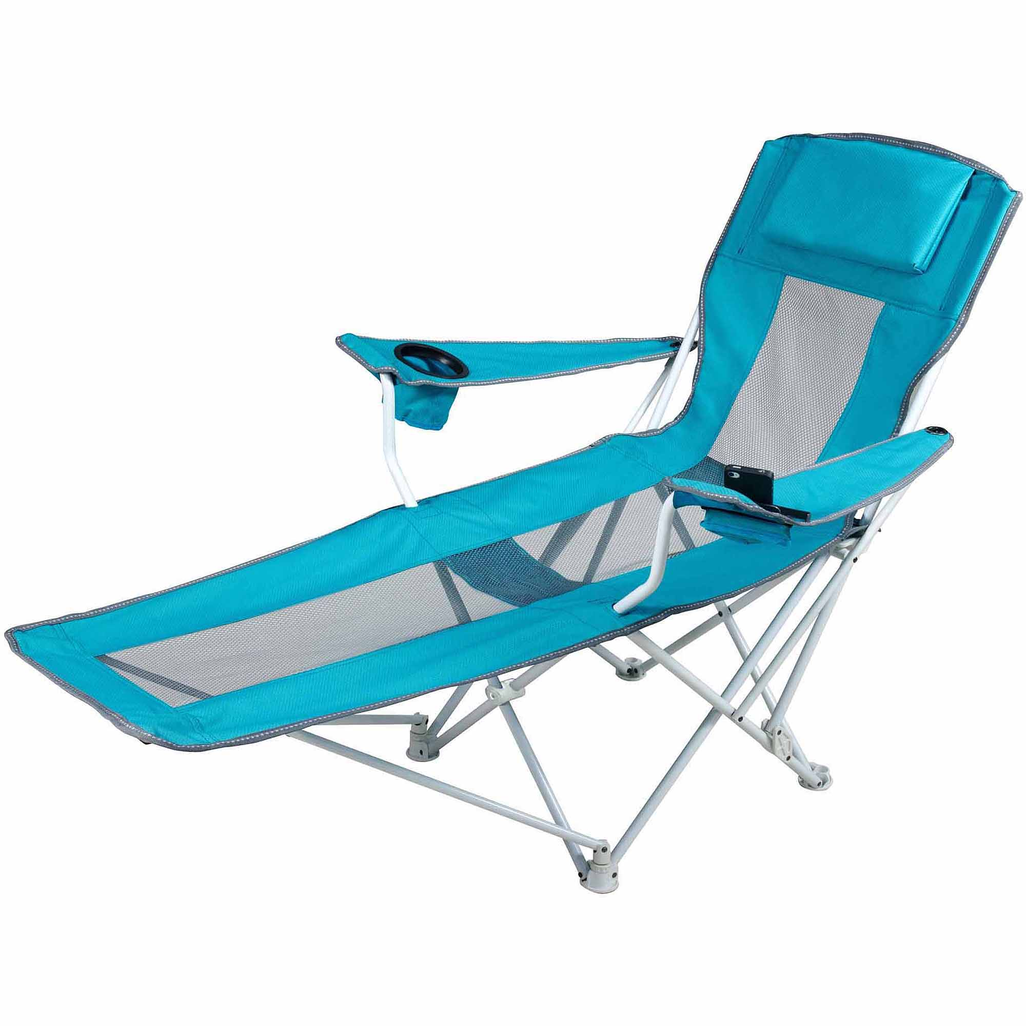 Ozark Trail Reclining Armchair Teal Blue Walmart