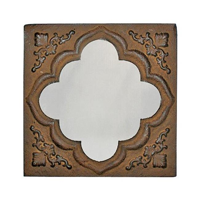 Cheung's FP-2923C-10 Rustic Square Framed Wall Mirror