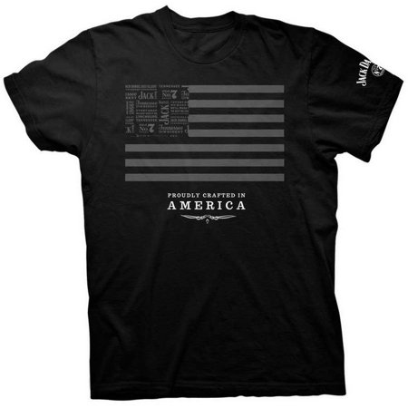 Jack Daniels Men's SS Jack and Stripes Short Sleeve T-Shirt - Jack Daniels Shirt In Store