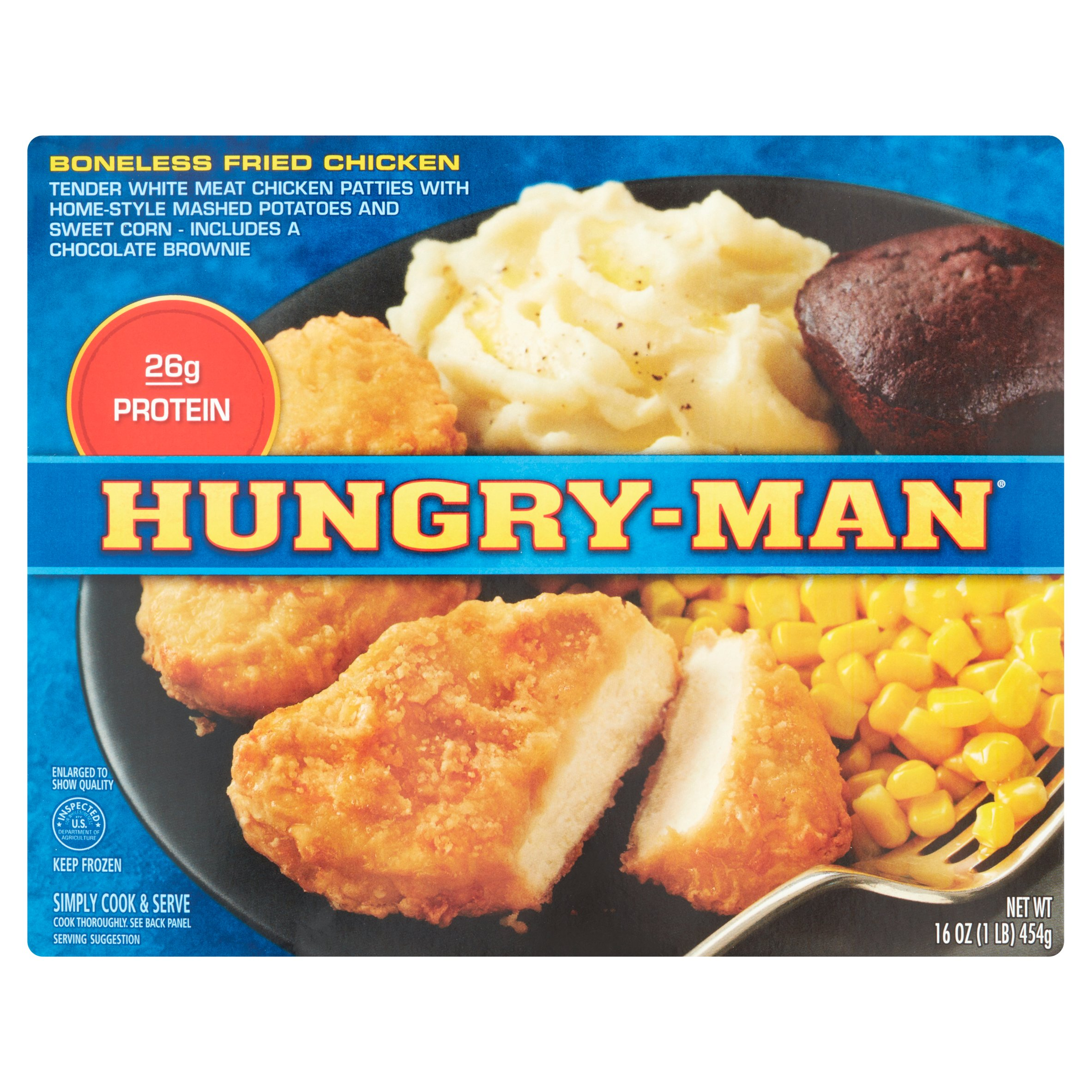 Hungry-Man® Boneless Fried Chicken Frozen Dinner 16 oz. Box