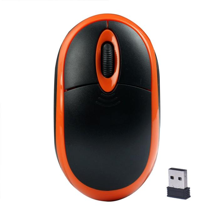 New Fashion 2.4GHz Wireless Optical 3D Buttons Mice Receiver Game Mouse GN