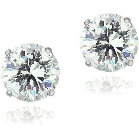 Zirconia Ice Swarovski Zirconia Sterling Silver 8mm Stud Earrings ()